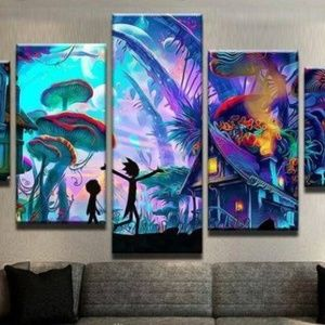Other - NEW -  Five (5) Panel Animated Wall Art Canvas